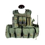 PANTAC VT-C270-OD-L RAV Armor With Pouches, L, Olive Drab
