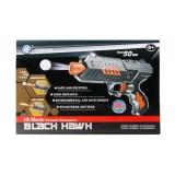 Pistola de juguete lanza dardos de foam iniciación + máscara