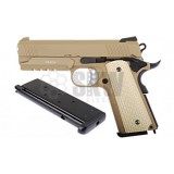 Pistola DESERT WARRIOR 4.3 TAN PISTOLA GBB WE-E011-T