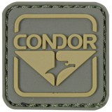 CONDOR 18001-008 Emblem PVC Patches Green/Brown (10 Pcs)