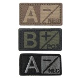 CONDOR 229B-007 Bloodtype Patch B- BK/Foliage (6 Pcs)