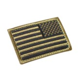 CONDOR 230-003R REVERSED USA Flag Velcro Patch Coyote Tan (6 Pcs)
