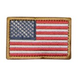 CONDOR 230-004 USA Flag Velcro Patch Red/White/Blue (6 Pcs)
