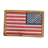 CONDOR 230-004R REVERSED USA Flag Velcro Patch Red/White/Blue (6 Pcs)