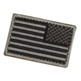 CONDOR 230-007R REVERSED USA Flag Velcro Patch BK/Foliage (6 Pcs)