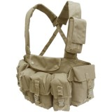 CONDOR CR-003 7 Pocket Chest Rig Coyote Tan