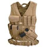 CONDOR CV-003 Cross Draw Vest Coyote Tan M/L
