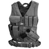 CONDOR CV-XL-002 Cross Draw Vest Black XL/XXL