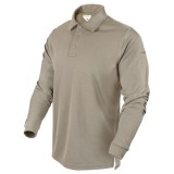 CONDOR 101120-004-M Performance Long Sleeve Tactical Polo M Sand
