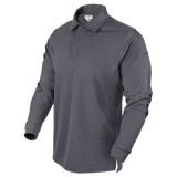 CONDOR 101120-018-L Performance Long Sleeve Tactical Polo L Graphite