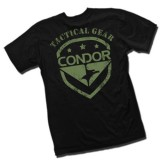 CONDOR 10619-002-XL Graphic Tee - Shield Black/OD XL