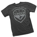 CONDOR 10619-018-XXL Graphic Tee - Shield Graphite/Grey XXL