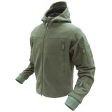CONDOR 605-001-S SIERRA Hooded Fleece Jacket OD S