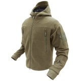 CONDOR 605-003-XL SIERRA Hooded Fleece Jacket Coyote Tan XL