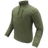 CONDOR 607-001-XL 1/4 Zip Fleece Pullover OD XL
