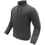 CONDOR 607-002-XL 1/4 Zip Fleece Pullover Black XL
