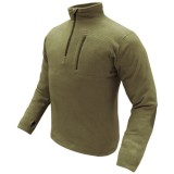 CONDOR 607-003-XXL 1/4 Zip Fleece Pullover Coyote Tan XXL