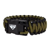 CONDOR 221082 USB 2.0 Paracord Bracelet Black / OD S