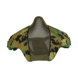 DRAGONPRO DP-FM-003-009 Tactical Foldable Facemask WOODLAND DIGITAL