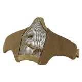 DRAGONPRO DP-FM006-003 FAST Helmet Tactical Foldable Facemask Tan