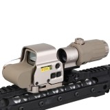 DRAGONPRO BD9126A EXPS3 Red Dot + G33 3X Magnifier Set Tan
