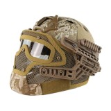 DRAGONPRO DP-HL004-014 Tactical G4 Protection Helmet Desert Digital