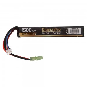DRAGONPRO DP-L7-025 7.4V 1500mAh 20C LiPO 128x21x12.5mm