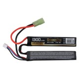 DRAGONPRO DP-L7-033 7.4V 1300mAh 15C LiPO (1+1) 95x20x7mm