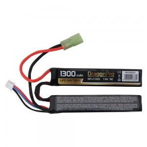 DRAGONPRO DP-L7-033 7.4V 1300mAh 15C LiPO (1+1) 95x20x7mm