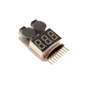 DRAGONPRO DP-VT001 LiPO Voltage Tester & Low Voltage Buzzer 1S-8S