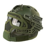EMERSON GEAR EM9197A G4 PJ Helmet + Protective Full Mask Goggles OD