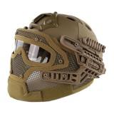 EMERSON GEAR EM9197B G4 PJ Helmet + Protective Full Mask Goggles CB