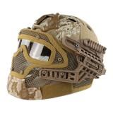 EMERSON GEAR EM9197E G4 PJ Helmet + Protective Full Mask Goggles DD