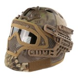 EMERSON GEAR EM9197F G4 PJ Helmet + Protective Full Mask Goggles MR
