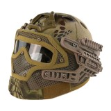 EMERSON GEAR EM9197H G4 PJ Helmet + Protective Full Mask Goggles HLD