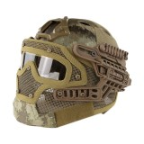 EMERSON GEAR EM9197J G4 PJ Helmet + Protective Full Mask Goggles AT