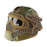 EMERSON GEAR EM9197K G4 PJ Helmet + Protective Full Mask Goggles MC
