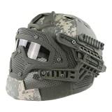 EMERSON GEAR EM9197L G4 PJ Helmet + Protective Full Mask Goggles ACU