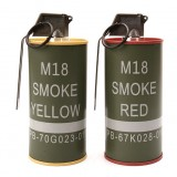 G&G G-07-045 Mock M18 Smoke Grenade Shape BB Container Set Red/Yellow