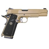 KJ WORKS K1911 M.E.U. (KP-07) Hi-Capa Gas BlowBack Tan
