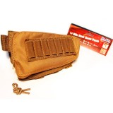 MODIFY Rifle Stock Ammo Pouch with Cheek Leather Pad - TAN