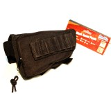 MODIFY Rifle Stock Ammo Pouch with Cheek Leather Pad - BLACK