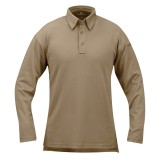 PROPPER F5315 ICE Men's Performance Polo - Long Sleeve Silver Tan S