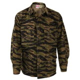 GENUINE GEAR F5450 BDU 60C/40P Ripstop Coat Asian Tiger Stripe L R