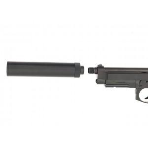 Silenciador para pistola metálico